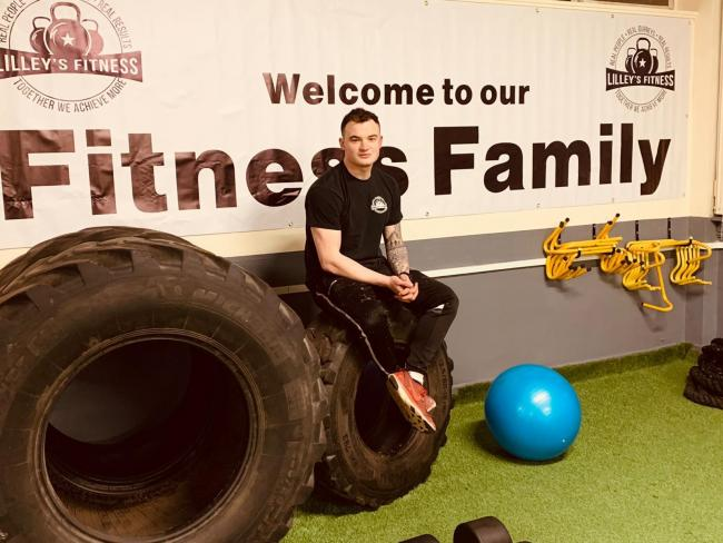 Jordan Lilley, of the Bradford Bulls, is ready to open up the new site for his family gym business