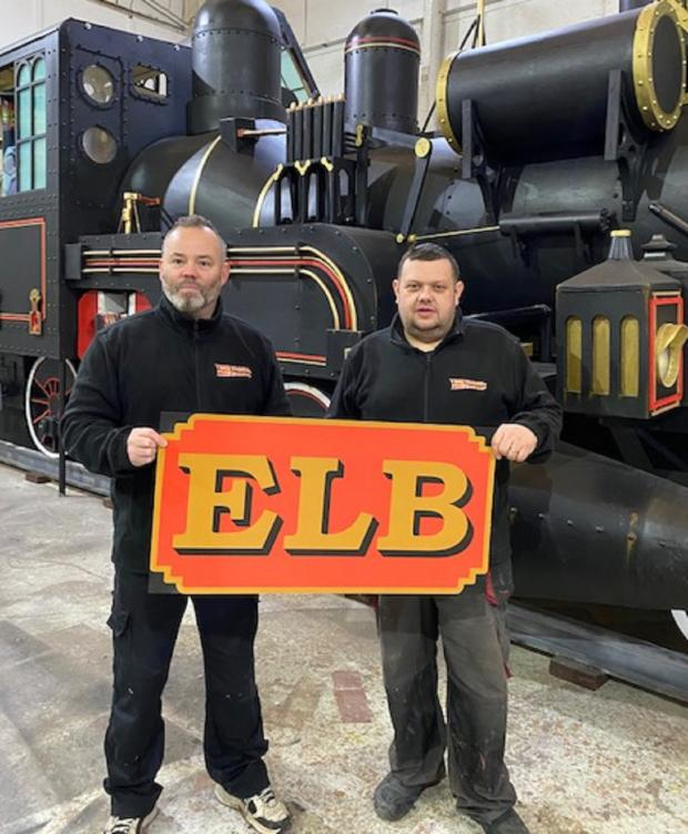 Bradford Telegraph and Argus: From left, Mike Hutchinson and Ian Robinson who have built the replica train