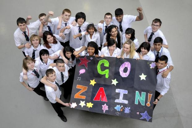 Bradford Telegraph and Argus: Tong High School students show their support for Zayn while he was on X Factor
