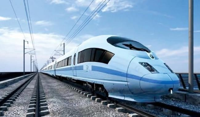 An artist's impression of how high-speed rail could look