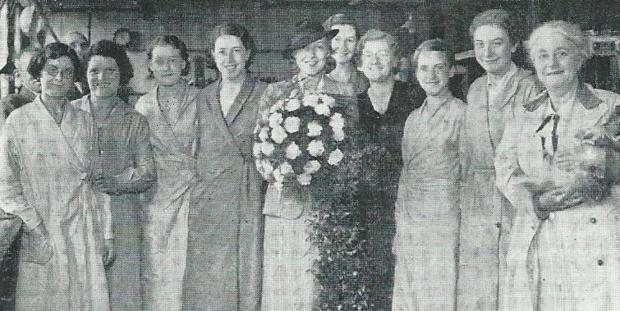 Bradford Telegraph and Argus: Pat Paterson, centre, at Lister Mill in July 1935