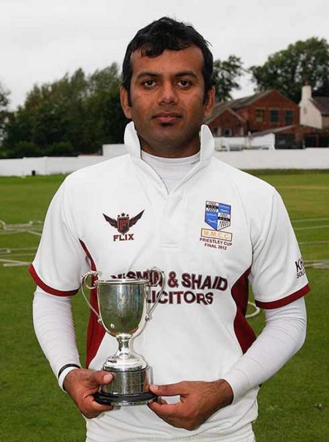 Nauman Ali was on the losing side in the 2012 Priestley Cup final, but was still named man of the match after taking 4-32 and scoring 40 for Manningham Mills in a 30-run defeat to East Bierley. Picture: Mike Baker.
