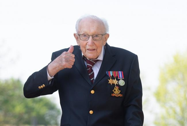 Captain Sir Tom Moore died aged100. Photo: Joe Giddens/PA Wire