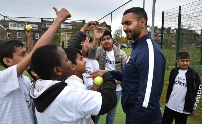 Former Yorkshire cricketer Ajmal Shahzad at a community cricket event in Barkerend back in 2018.