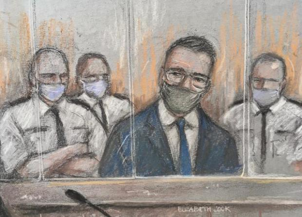 Bradford Telegraph and Argus: A court sketch of Pawel Relowicz
