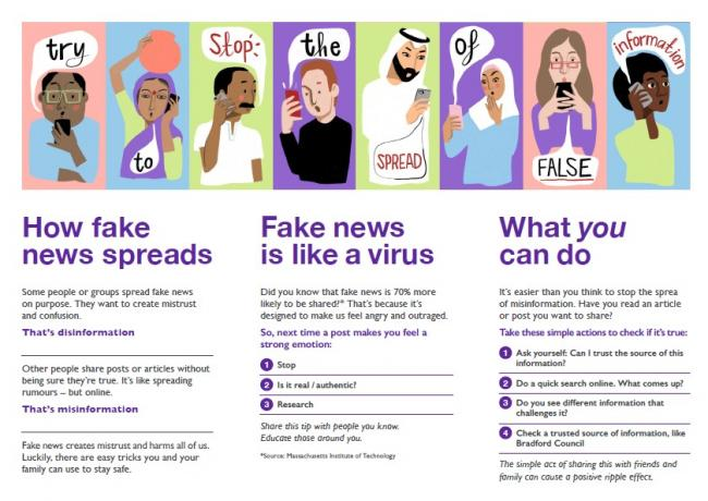 The leaflet aims to dispel myths, misinformation and disinformation around Covid-19