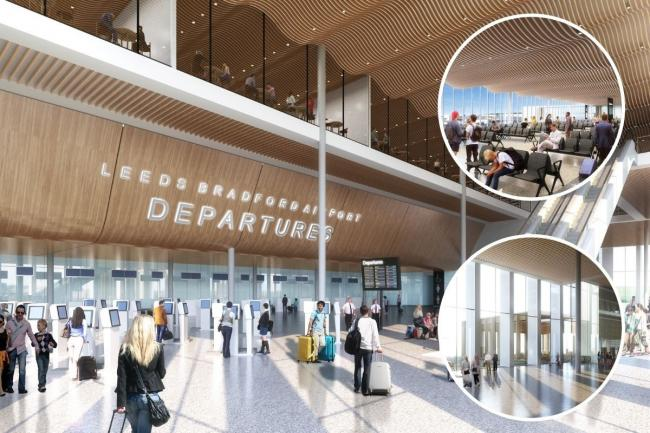 CGI images of the proposed new Leeds-Bradford Airport terminal