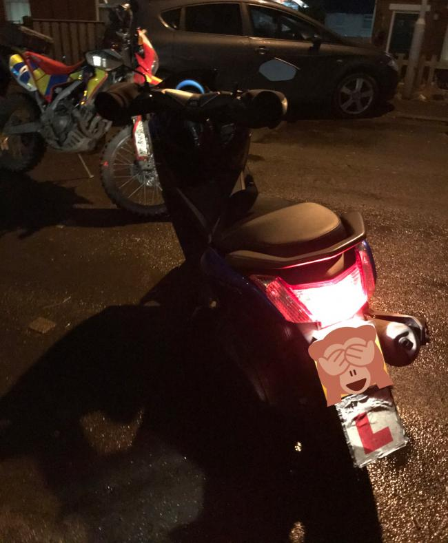 This stolen moped was found in Ravenscliffe last night
