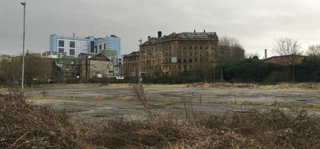 A site on Thornton Road that could be developed to create hundreds of homes