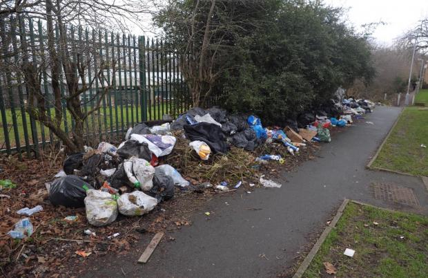 Bradford Telegraph and Argus: Fly-tipping near Barkerend Primary School