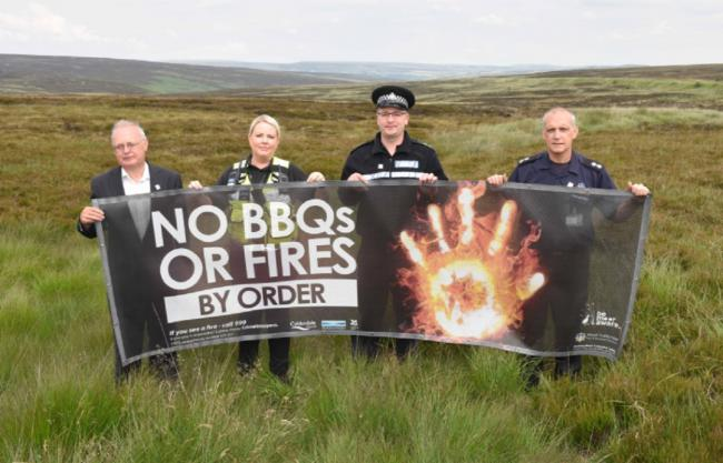 People warned over dangers of moorland fires and fines for barbecues