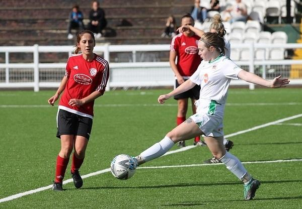 Avenue's Ladies (in white) won't be playing competitive football again for another few months. Picture: Alex Daniel.