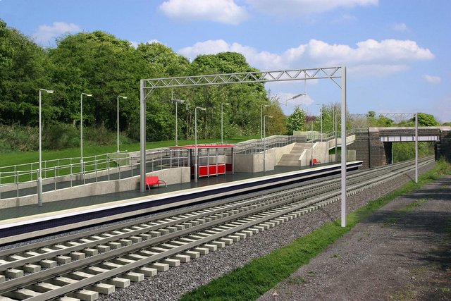How the new Apperley Bridge station would look