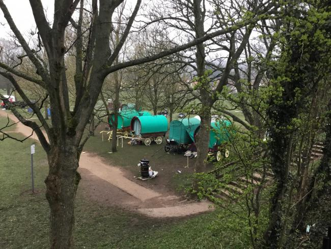 The travellers on West Holmes field in Ilkley on Saturday