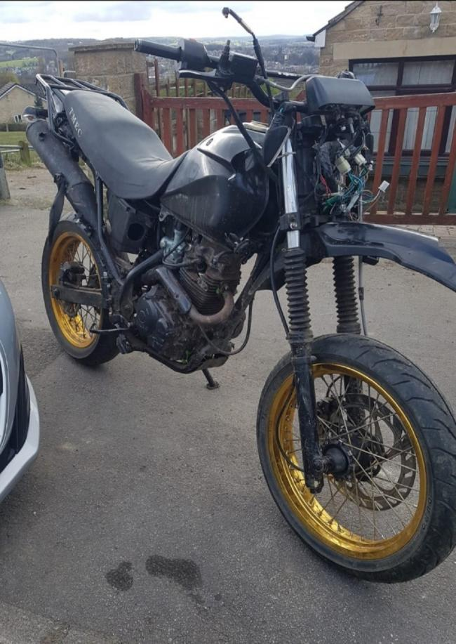 The bike seized by police