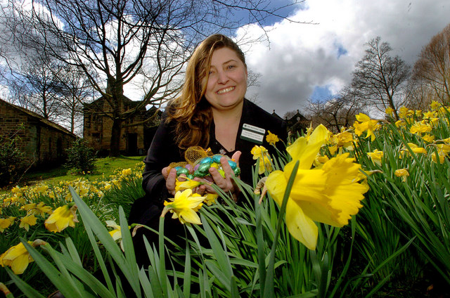 Samantha Lawson prepares for Easter trails around East Riddlesden Hall