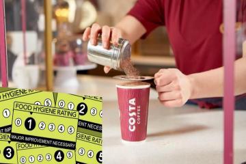 Costa food hygiene ratings in Bradford district revealed