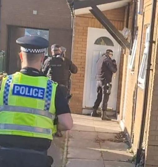 Property raided in police crackdown on drug dealing