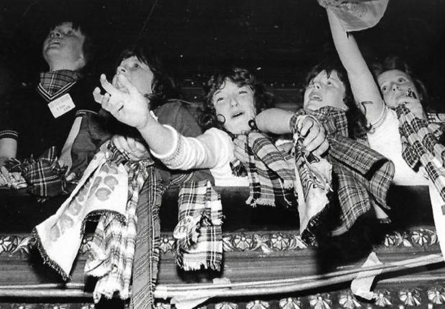 Rollermania: Giddy fans at a Bay City Rollers concert in the 1970s