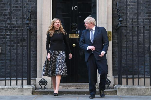 Bradford Telegraph and Argus: The Prime Minister and his fiancee Carrie Symonds have faced questions over the funding of their renovations to the 11 Downing Street flat (Victoria Jones/PA)