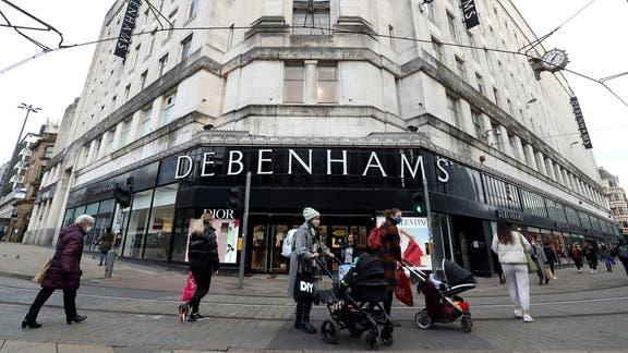 Debenhams confirm closing dates for remaining 52 UK stores. (PA)