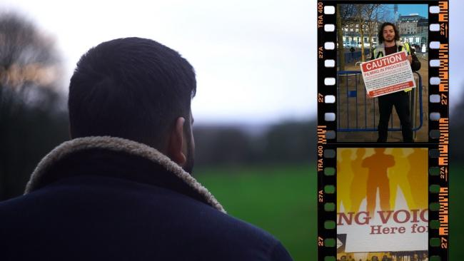 Ahseem Yousuf, inset top right, has produced and directed a documentary on mental health for British Muslim TV