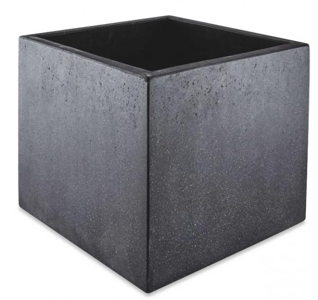 Bradford Telegraph and Argus: Black Square Terrazzo Plant Pot. (Aldi)