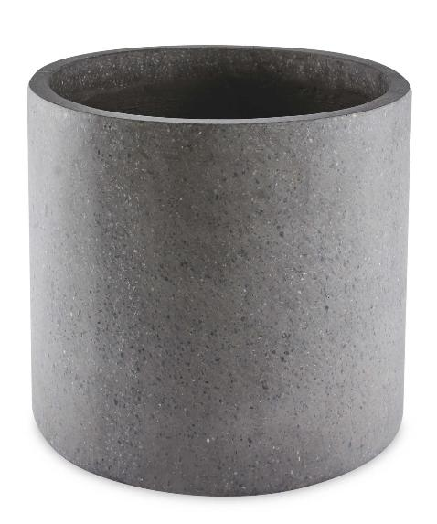 Bradford Telegraph and Argus: Grey Round Terrazzo Plant Pot. (Aldi)
