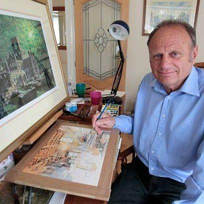 Watercolour artist Richard Gawthorpe, whose work can be viewed in Ilkley until June 12