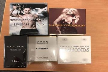Fake Paco Rabanne, Dior, Chanel and Emporio Armani sold in Huddersfield