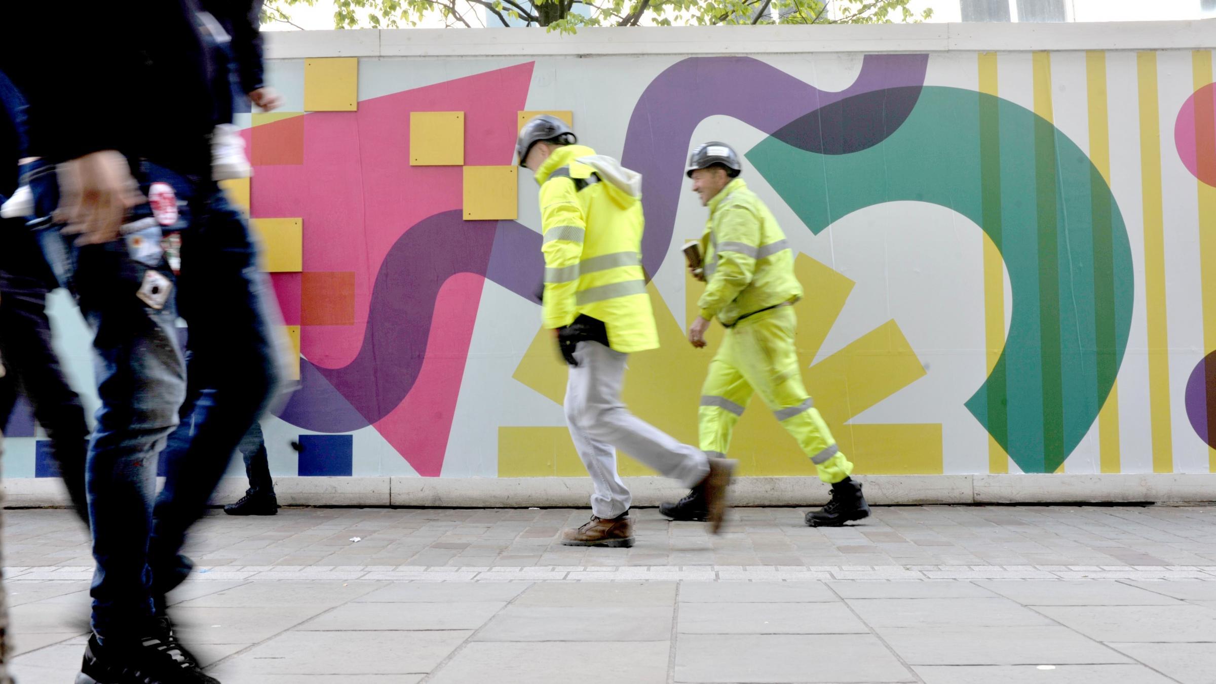 Longest piece of street art in Bradford installed in city centre