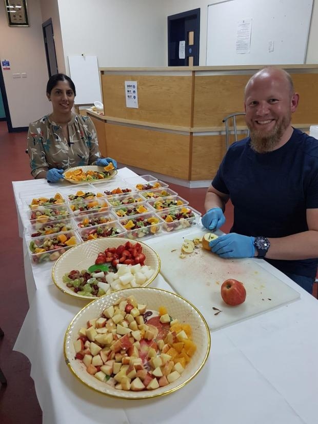 Bradford Telegraph and Argus: PC James from the Bradford Community Engagement Team was at the centre helping out last week