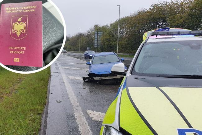 Two arrested for illegal entry into UK after motorway crash