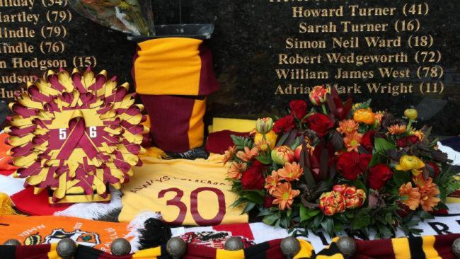 The 56 victims of the Bradford City Fire Disaster will be remembered today. Picture: Thomas Gadd