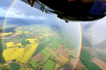 Aircraft spots natural phenomenon known as circle rainbow