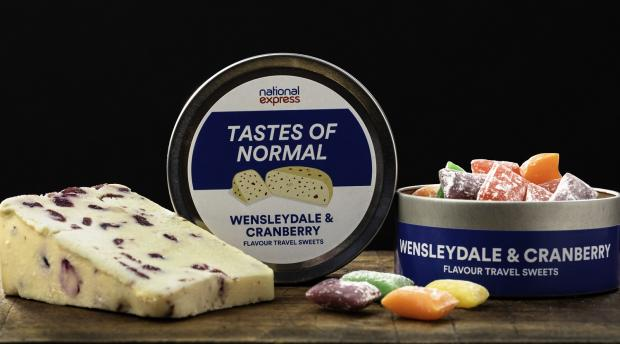 Bradford Telegraph and Argus: Bradford and Yorkshire is represented by Wensleydale & Cranberry flavoured sweets