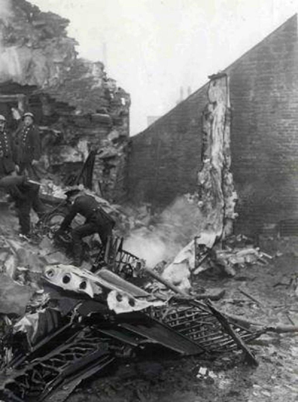 Look back: Night a German plane crashed onto Idle
