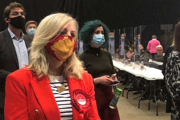 Tracy Brabin at the count for the West Yorkshire Mayoral election. Picture: PA