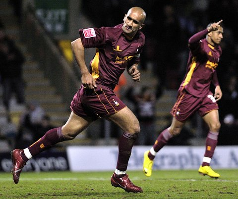 Zesh Rehman celebrates scoring in City's 2-0 victory over Morecambe as he helped silence the small section of boo boys
