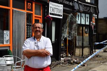 Locals hear 'massive bang' when car ploughs into Pudsey shop