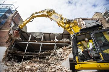 Old Marks & Spencer being pulled down to make way for new market