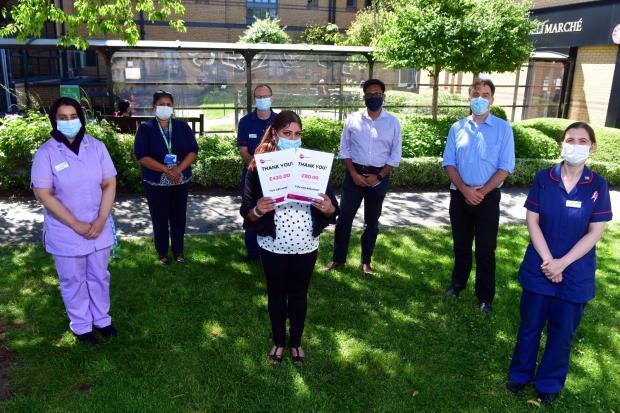Bradford Telegraph and Argus: Rehana with the renal team