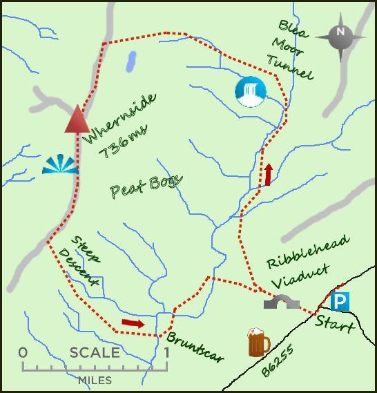 Bradford Telegraph and Argus: Whernside map
