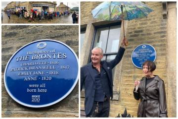 Blue plaque unveiled at Bronte Birthplace in Thornton