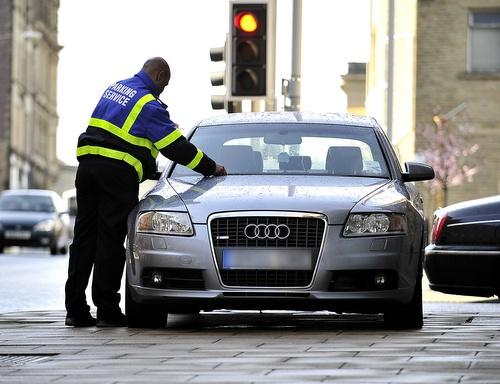 Bradford Council parking wardens at work in the city
