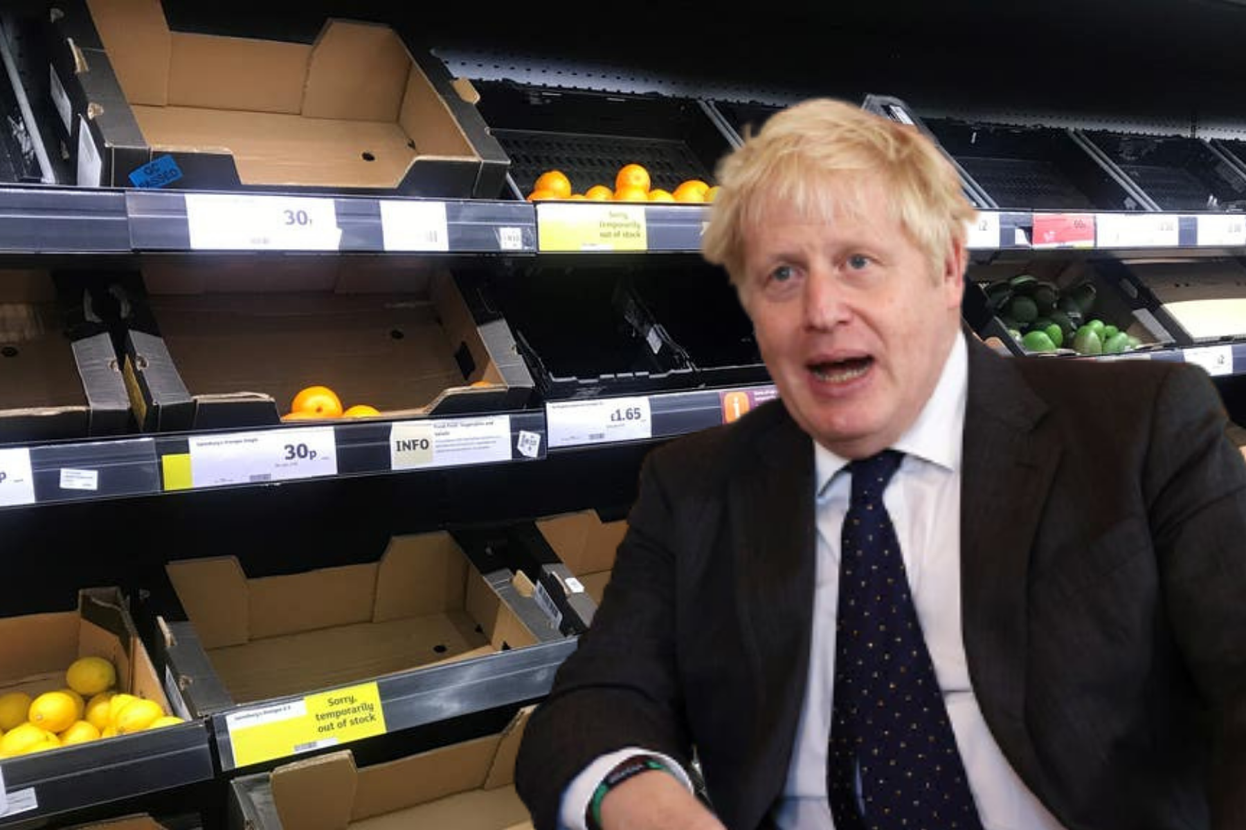 Boris Johnson issues UK food shortage warning ahead of Christmas
