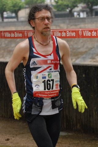 Chris Carver in action during the 24-hour World Championships in France