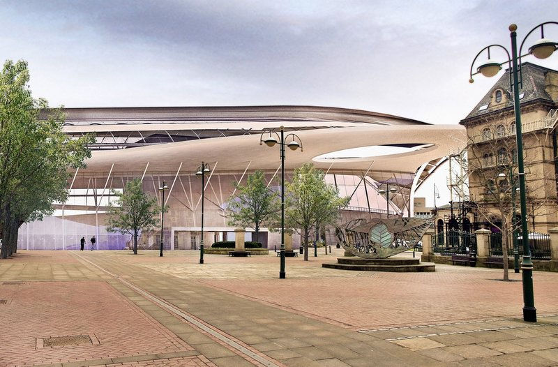 An artist's impression of the proposed central station