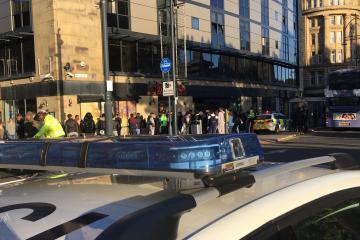 Police presence seen in Bradford city centre