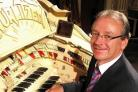 Phil Kelsall, resident organist at Blackpool's Tower Ballroom who received a MBE